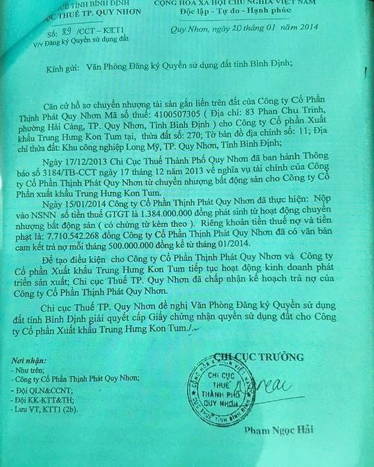 Hang loat lanh dao Cuc Thue Binh Dinh co dau hieu chiem doat tien thue-Hinh-2