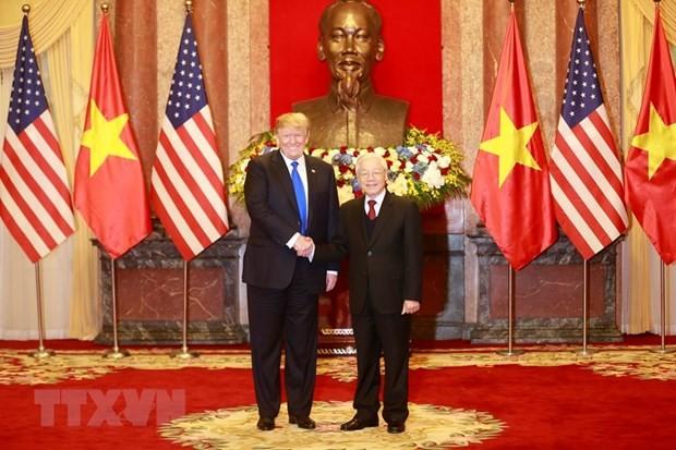 Tong thong Donald Trump moi Tong Bi thu, Chu tich nuoc Nguyen Phu Trong tham Hoa Ky