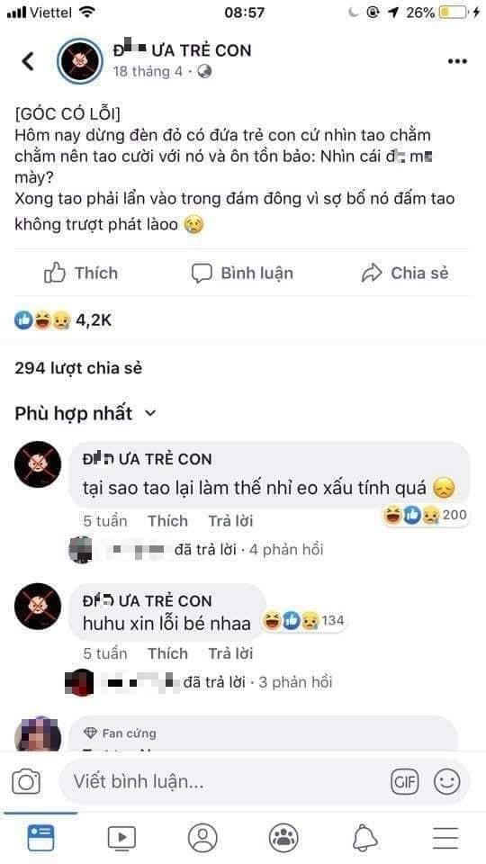 Trang facebook keu goi bai tru, bao hanh tre em khien du luan phan no