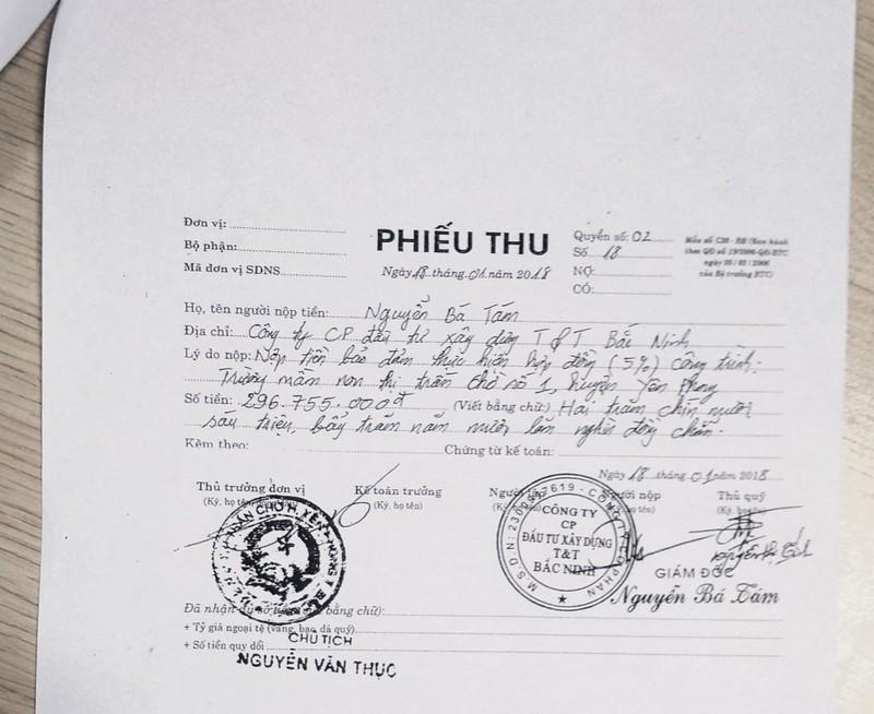 """Nguyen Chu tich thi tran Cho chi dao lap phieu thu khong 296 trieu: Nghi tien """"chay"""" du an?-Hinh-2"""
