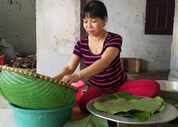Tet o lang banh chung noi tieng Phu Tho