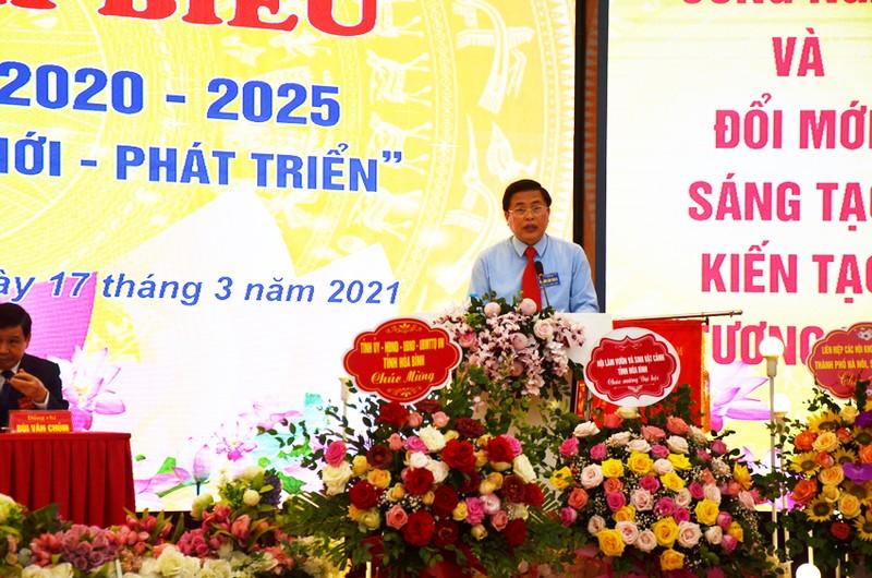 Dong chi Bui Van Thang duoc bau lam Chu tich Lien hiep Hoi o Hoa Binh-Hinh-4