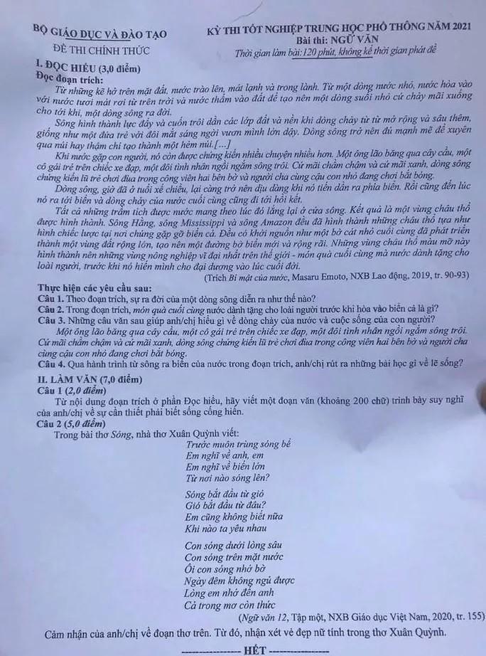 Van tranh cai ve de thi tot nghiep mon ngu van, Bo GD-DT cong bo dap an-Hinh-3