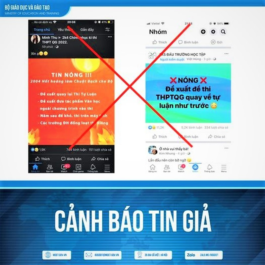 Canh bao tin gia mao ve phuong an thi tot nghiep THPT nam 2022