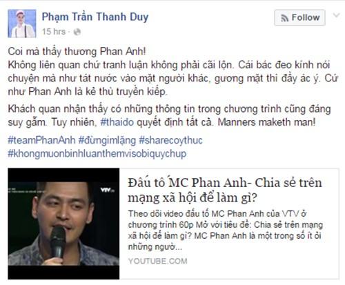 Nghe si Viet len tieng viec VTV dau to MC Phan Anh-Hinh-4