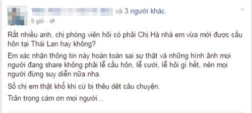Phia Ho Ngoc Ha phu nhan nu ca si duoc cau hon
