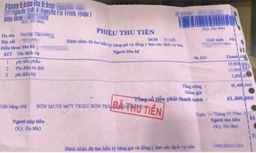 Phong kham Trung Quoc chua phu khoa gan 42 trieu dong/gio gay soc