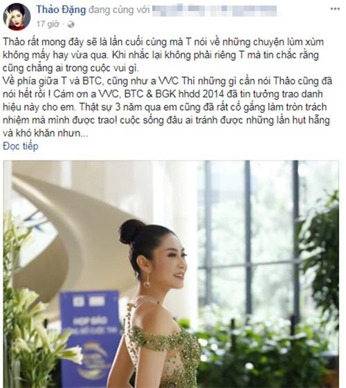 """Di su kien voi danh hieu """"Hoa hau Dai duong"""", Thu Thao noi gi?-Hinh-2"""