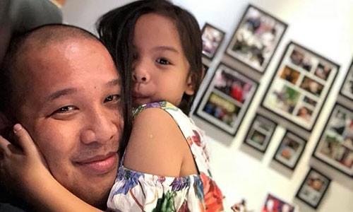 Quang Huy vui ve ben con gai sau tin don ly hon Pham Quynh Anh