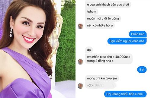 Diem Huong dap tra loi moi di tiep khach gia 40000 USD