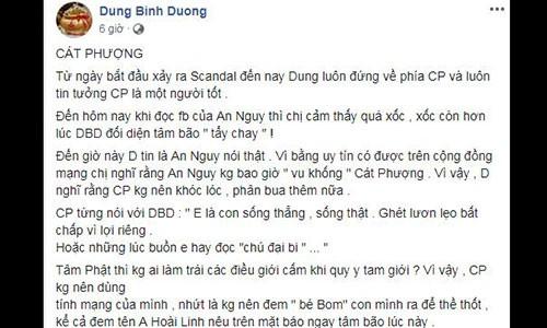 Ba Dung Binh Duong khuyen Cat Phuong dung khoc gia tao