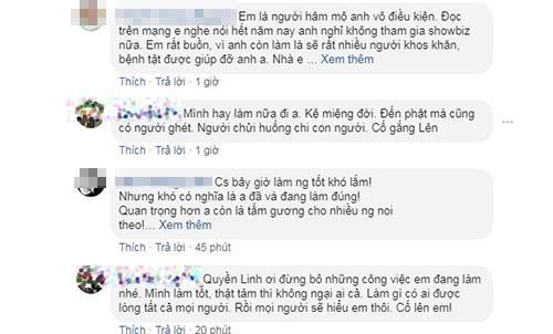 Quyen Linh muon giai nghe: Khan gia va dong nghiep tha thiet niu chan-Hinh-2