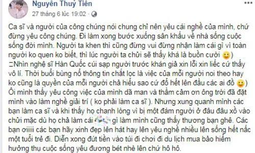 "Tien Cookie khuyen ca si ""khong yeu cong chung"": Suy nghi thien can!-Hinh-2"