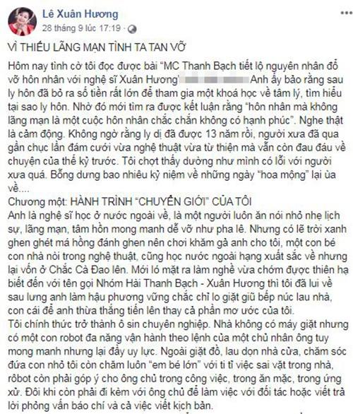 Giua on ao voi vo cu Xuan Huong, MC Thanh Bach phan ung ra sao?-Hinh-2