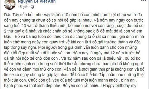 Viet Anh khoe con gai dau long 10 nam khong gap, vo cu to vo trach nhiem-Hinh-2