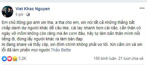 Khac Viet buc xuc khi vo bi antifan vu khong lo clip nong-Hinh-2