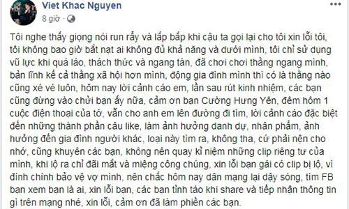 Khac Viet buc xuc khi vo bi antifan vu khong lo clip nong-Hinh-3