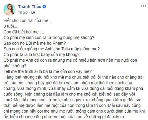 Thanh Thao nhac lai on ao cua Thuy Anh - Ngo Kien Huy, kho xu khi con nuoi hoi bo-Hinh-2