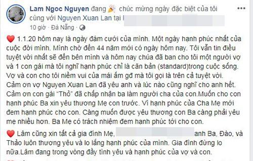 Xuan Lan va chong viet loi ngon tinh danh cho nhau sau dam cuoi-Hinh-3