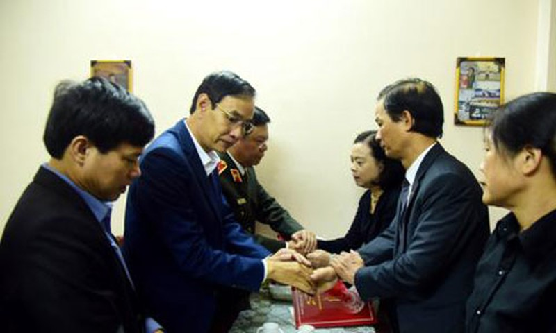 Nguyen vong cua vo chien si hy sinh tai Dong Tam