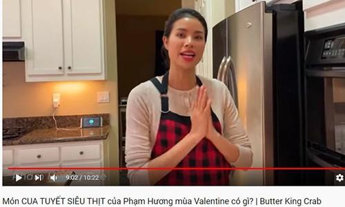 Pham Huong lai bi fan mia mai sai tieng Anh, goi King Crab la cua Tuyet