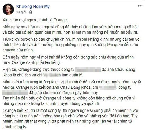 Chau Dang Khoa noi gi khi bi Orange, Ly Ly to an chan tien cat se?-Hinh-2