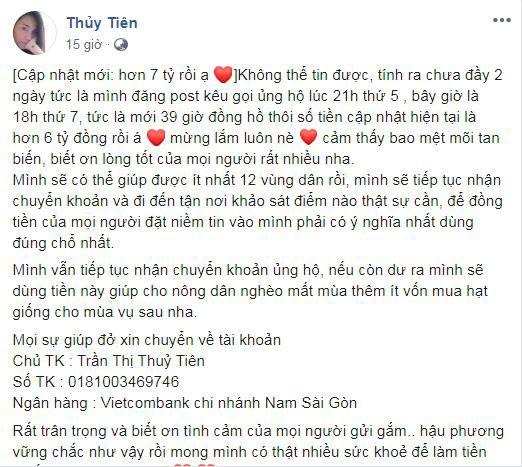 Thuy Tien quyen gop duoc hon 7 ty ung ho nguoi dan mien Tay-Hinh-2