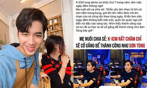 Me nuoi K-ICM noi gi khi bi don so sanh con trai voi Son Tung M-TP?