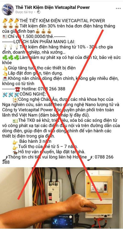 Quang cao sai su that ve thiet bi tiet kiem dien mua dich COVID-19-Hinh-2