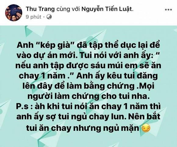 Thu Trang tuyen bo se an chay 1 nam neu chong len 6 mui-Hinh-2