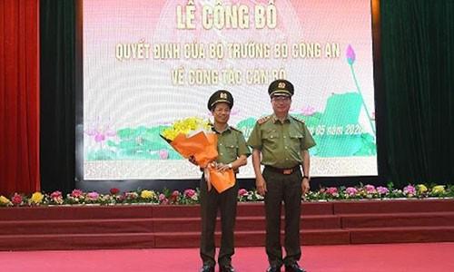 Giam doc Cong an Hoa Binh lam Pho Chanh Thanh tra Bo Cong an