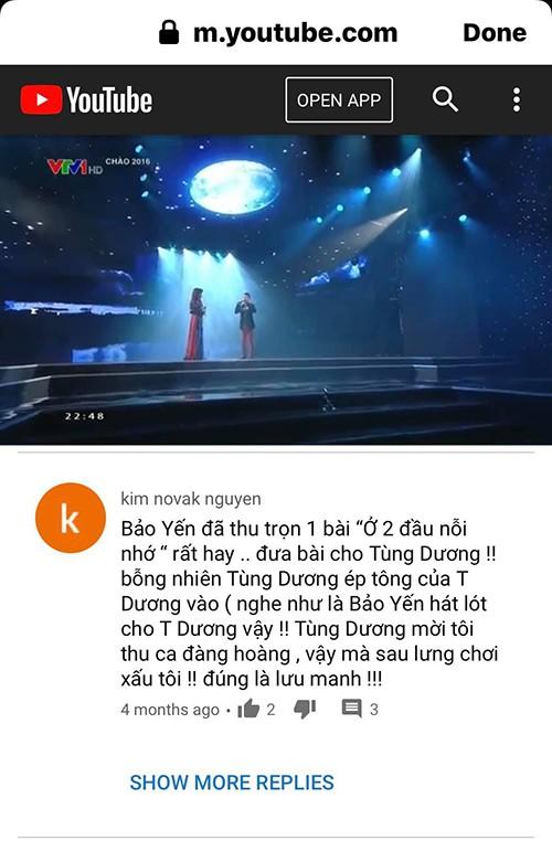 Danh ca Bao Yen buc xuc vi bi Tung Duong choi xau sau lung?-Hinh-3