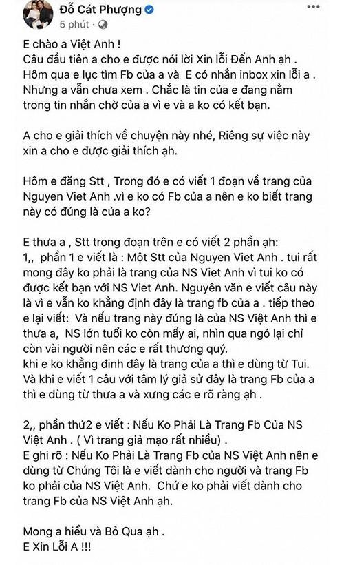 Cat Phuong xin loi NS Viet Anh, hanh xu tung gay that vong the nao?-Hinh-2