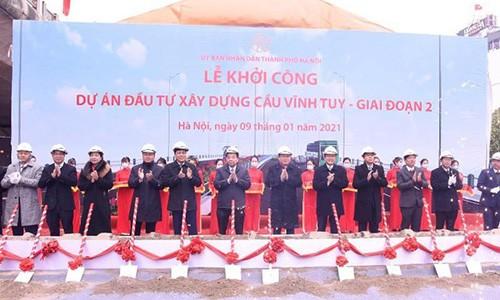 Ha Noi khoi cong xay dung cau Vinh Tuy 2 hon 2.500 ty dong