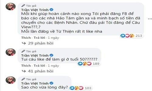 Viet Trinh dap tra khi bi antifan noi cau view vu livestream tu thien