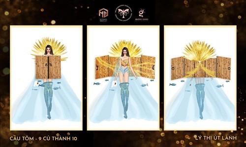 """Thiet ke trang phuc """"Cau tom"""" thi Miss International Queen: Sang tao hay phan cam?"""