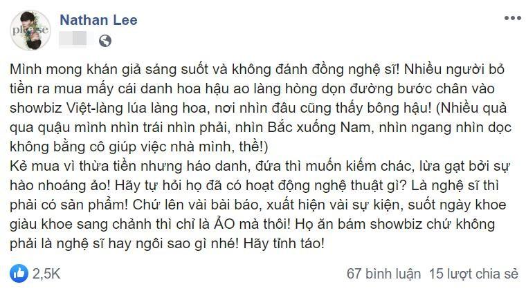 Nathan Lee khoi chuyen cu khien Thu Hoai bi chui oan