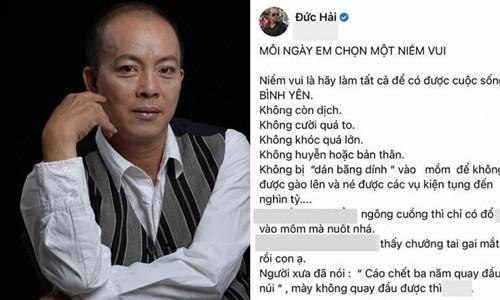 Nghe si Duc Hai noi gi ve status vang tuc tren mang xa hoi?