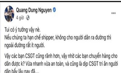 Dao dien Quang Dung bi nem da vi y tuong CSGT thay shipper-Hinh-2