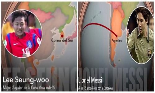 So sanh Messi Han Quoc va Messi xin