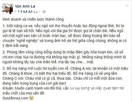 Ha Ho doi thai do voi vo dai gia kim cuong?