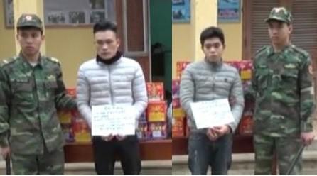 Bat 2 doi tuong van chuyen hang tram kg phao no cua Trung Quoc