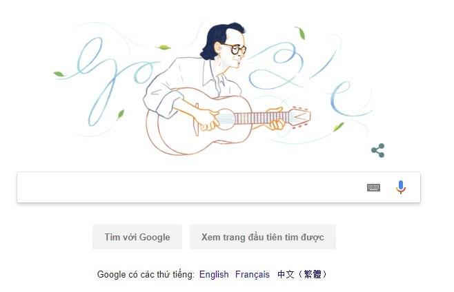 Google vinh danh nhac si Trinh Cong Son nhan ky niem sinh nhat