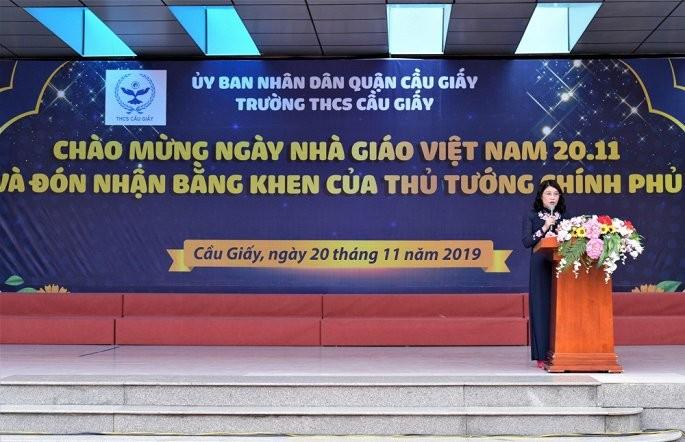 Ngoi truong duoc nhan bang khen cua Thu tuong trong ngay Nha giao Viet Nam
