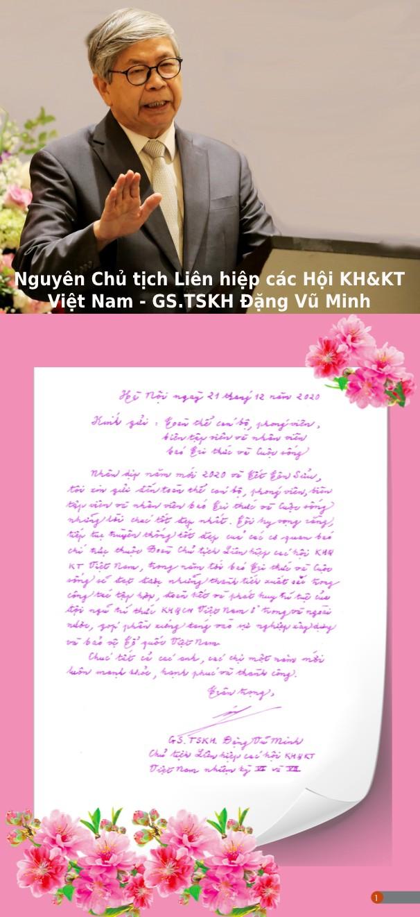 GS.TSKH Dang Vu Minh - Nguyen Chu tich VUSTA chuc Tet Bao Tri thuc va Cuoc song