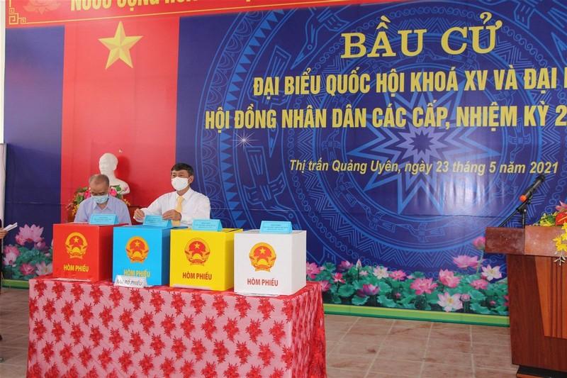 Cao Bang cong bo ket qua bau cu