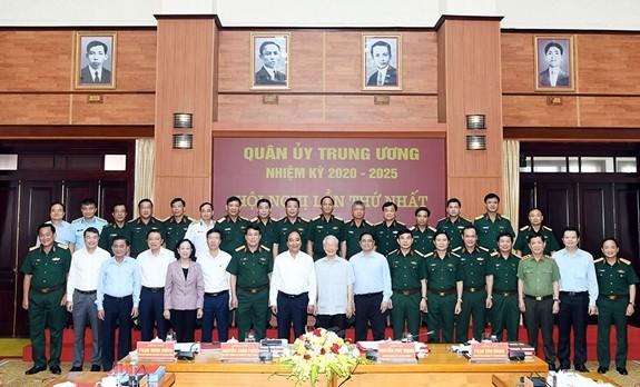 Tong Bi thu, Chu tich nuoc va Thu tuong tham gia Thuong vu Quan uy Trung uong