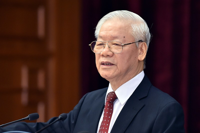 Toan van phat bieu be mac Hoi nghi Trung uong 4 cua Tong Bi thu Nguyen Phu Trong