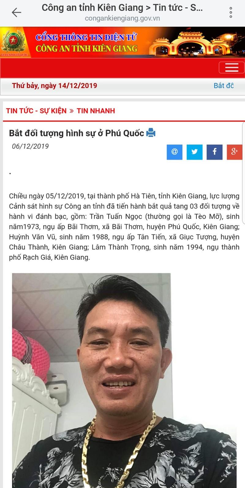 Giang ho Teo Mo o Ha Tien tung di chua benh tam than