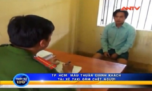Tai xe taxi Mai Linh dam chet doi thu vi... gianh khach